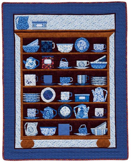 Cups and Saucers, paper-pieced kitchen quilt design by Maaike Bakker | Martingale | December 2014: