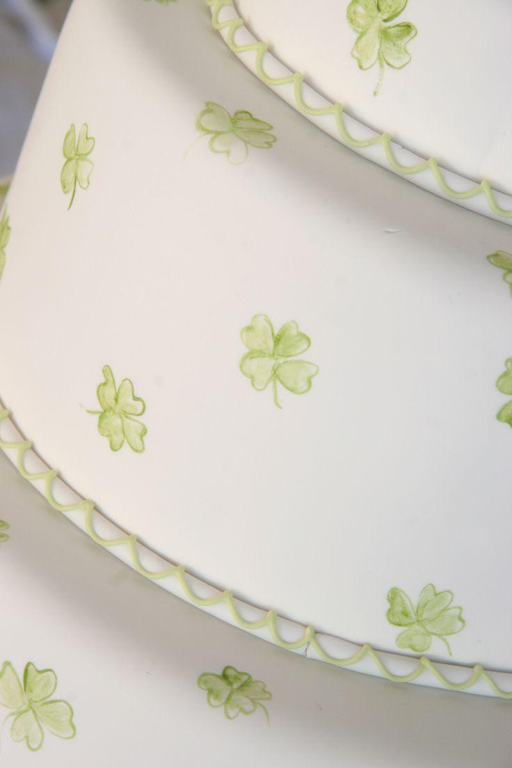 Irish Wedding Cake Shamrocks