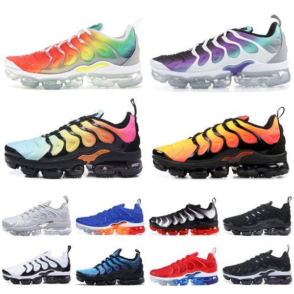 2019 TN Plus Rainbow Running Shoes Men Women Grape Tropical