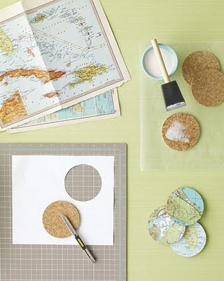 map coasters- mark all the place you have been!! SO cute