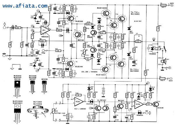 mosfet amplifier otl 100w by k1058j162