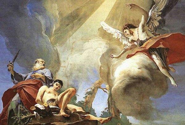 Giovanni Battista Tiepolo Sacrificio De Isaac Pinturas Pintura