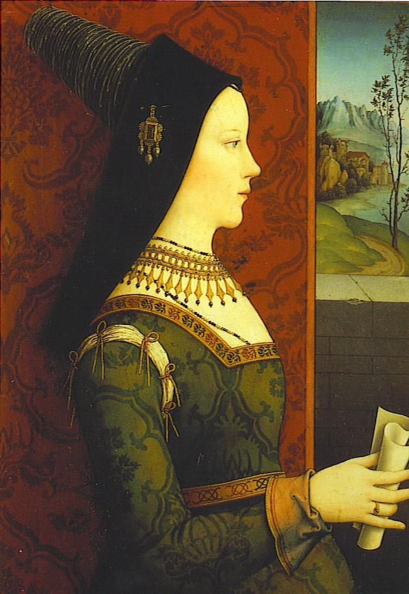 Mary of Burgundy in a Burgundian hennin