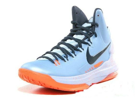 96f672f5cd36 Nike KD V Really Cheap Ice Blue Squadron Blue Total Orange 554988 ...