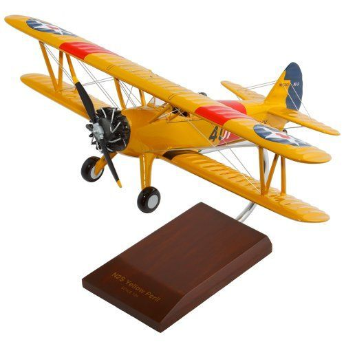 Mastercraft Collection Boeing N2S234 Stearman Yellow Peril Model Scale124 >>> Click on the image for additional details.