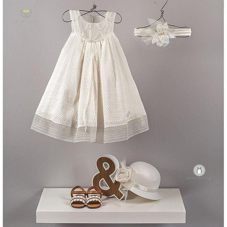 """Βαπτιστικό Φόρεμα """"Valentina"""" Angel Wings 252"""