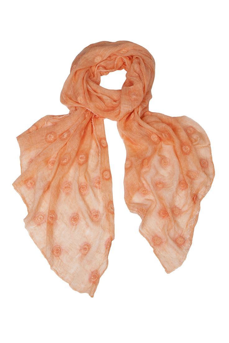 Coral silk & modal scarf.....our customers choice as this seasons winning colour! www.marygrant.com