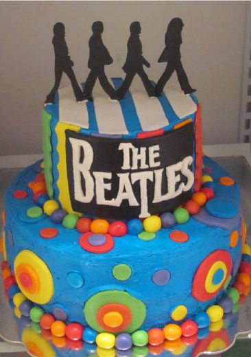 Beatles birthday cake