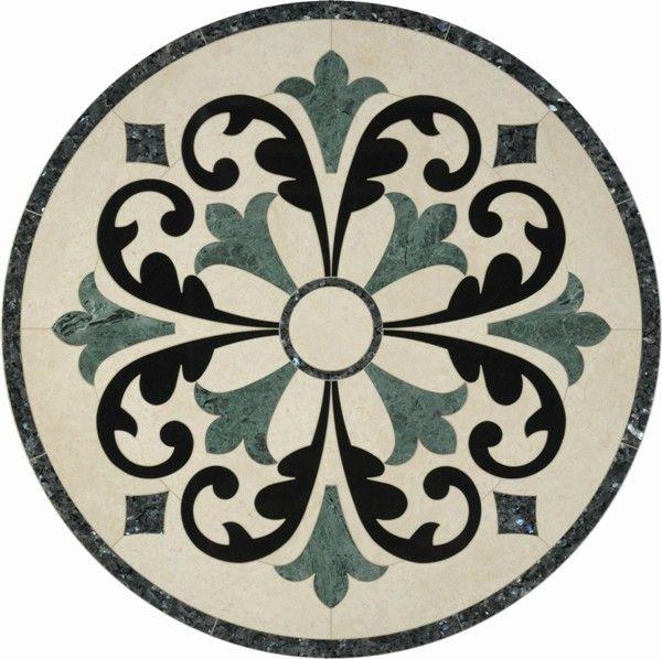 cheap decorative marble waterjet floor tile