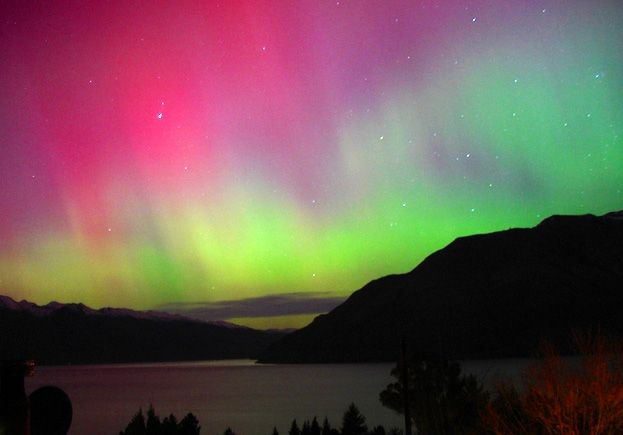 Southern lights (Aurora Australis) in Tasmania, Australia