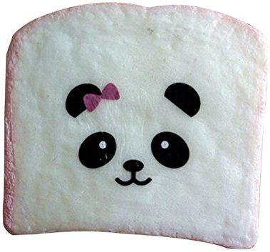 Generic 1PCS Mini Color Random Squishy Soft Panda Bread Phone Strap