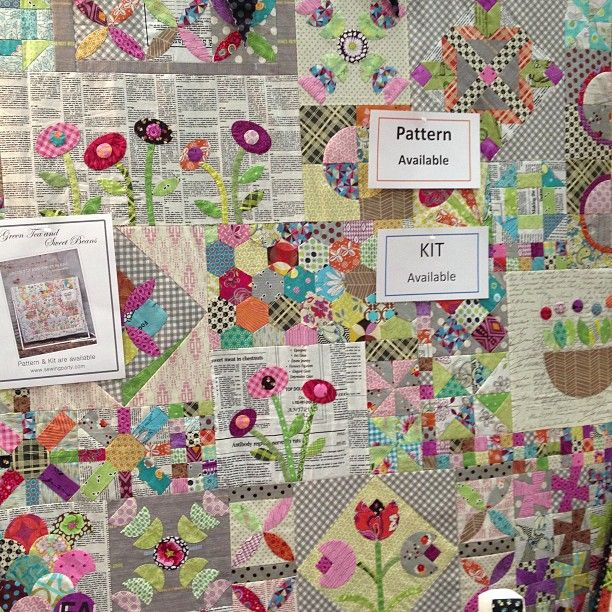 So many different types of blocks mixed together but it works! - Vintage Modern Quilts