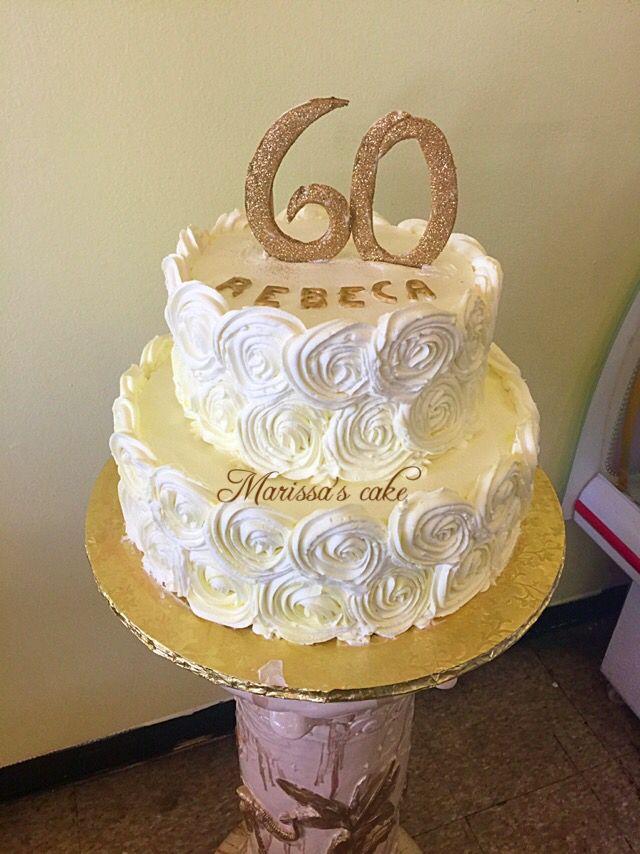 Rosettes 60th Birthday Cake Visit Us Facebook Marissascake Or