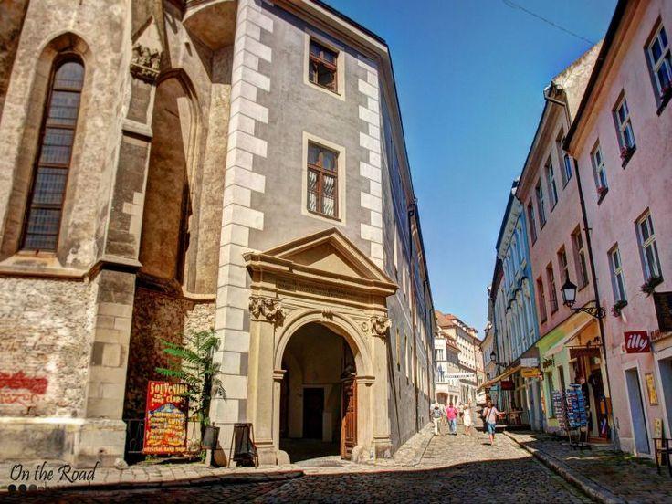 Beautiful cobblestone street in Bratislava