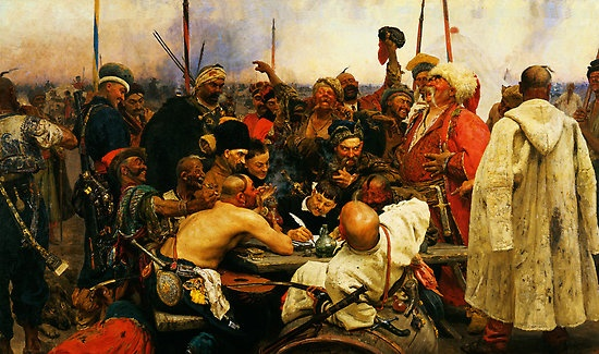 """""""ilya repin 3 reply of the zaporozhian cossacks to sultan mehmed iv of ottoman empire1"""" by Adam Asar   Redbubble"""