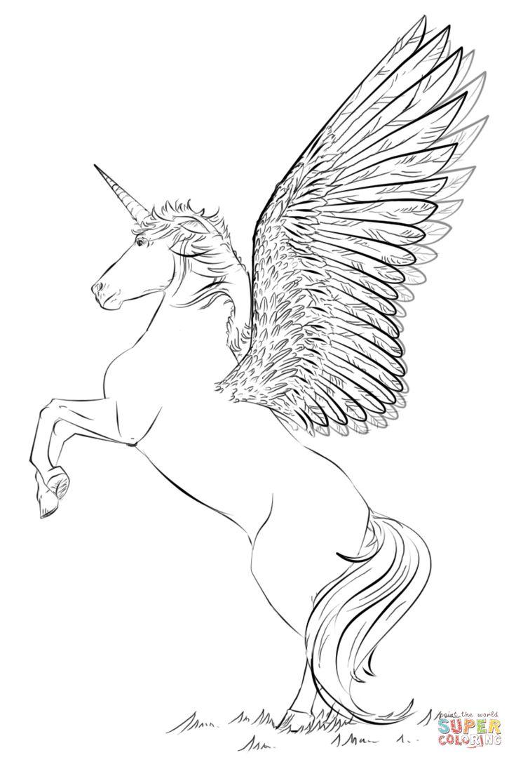 einhorn mit flügeln | super coloring | realistische