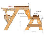 folding picnic table plans - side elevation