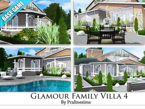 Lana CC Finds - Glamour Family Villa 4 by Pralinesims