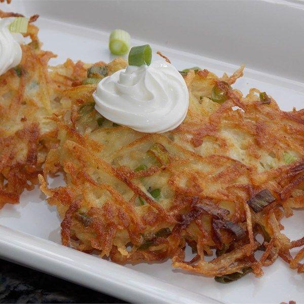 about Potato Pancakes on Pinterest | Sweet potato cakes, Potato latkes ...