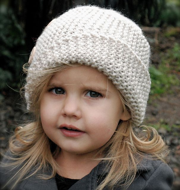 The Piper Cloche' knitting pattern by Heidi May  adult and children sizes