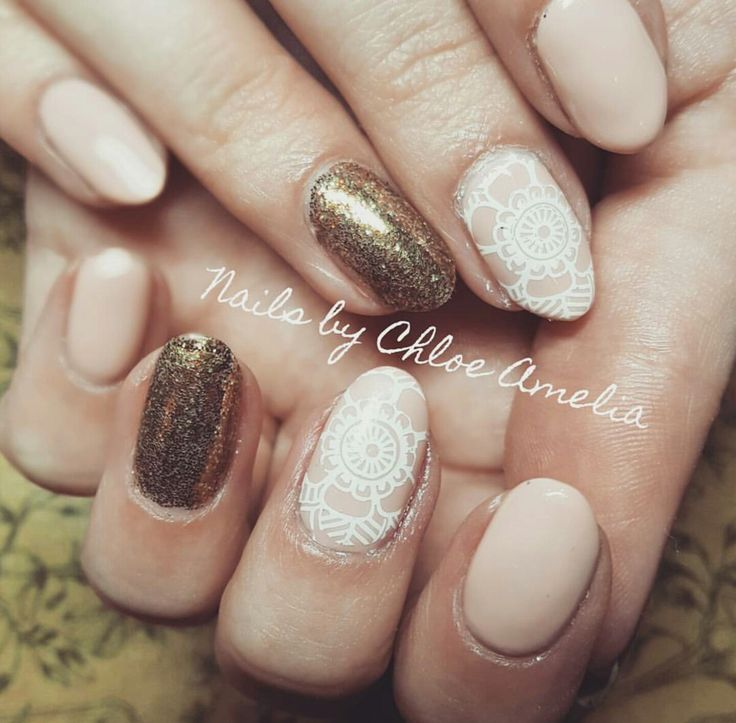 Nail stamping- Calgel Manicure