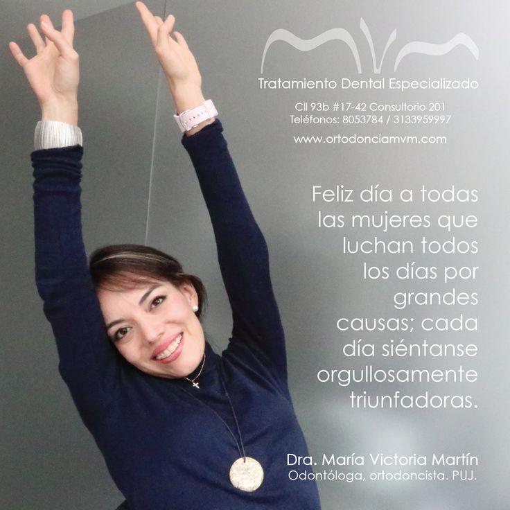 Feliz día a todas las mujeres que luchan todos los días por grandes causas; cada día siéntanse orgullosamente triunfadoras. #DiaDeLaMujer #FelizDiaDeLaMujer www.ortodonciamvm.com Consultas: 8053784 - 6363236 Móvil 313 395 99 97 WhatsApp 321 4595296 #OdontologiaBogota #Ortodoncia #Odontologia #SaludOral #LimpiezaDental #MensajeDelDia #ClinicaOdontologica #Belleza #Braquets #Blanqueamiento #OrtodonciaLingual #DiseñoDeSonrisa #Mujer #Sonrie #Smile #Orthodontics