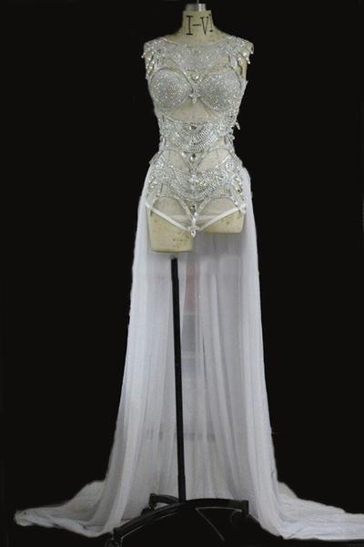 ALEKTA sequinned bodysuit