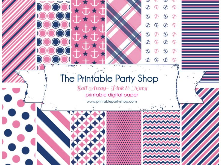 263 best images about pink navy on pinterest navy pink for Themed printer paper