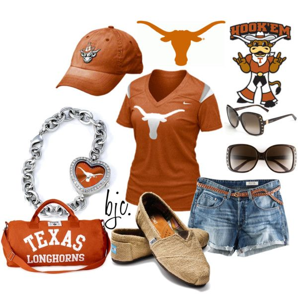 Texas Longhorns ♥Football Seasons, Texas Longhornshookem, Game Day Outfits, Clothing, Texas Longhorns Outfit, Hooks Ems, Games Day Outfit, Ems Horns, My Style