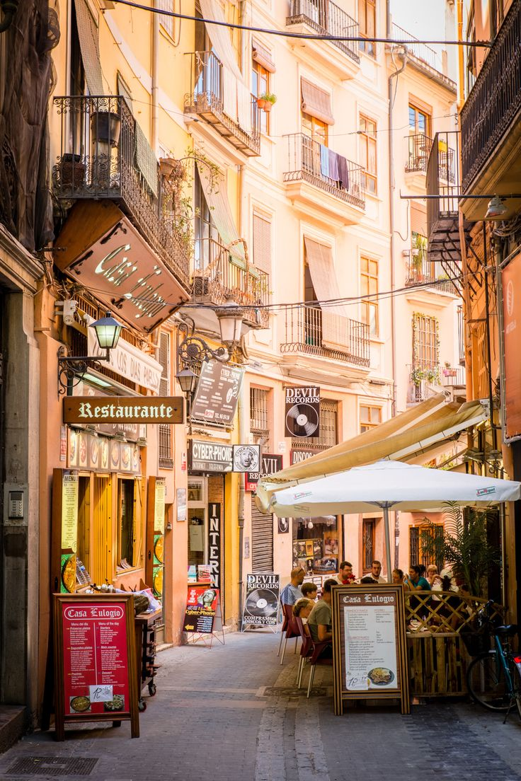 Street Cafe in Valencia, Spain