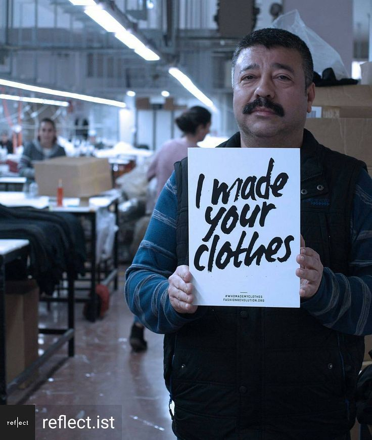 Thank you to Turkey based sustainable fashion company @reflect.ist!  @Regrann from @reflect.ist -  reflect is made by humans: Meet Fevzi. He's 51 and very proud of his artisanship in the factory. Find out more about our production partners and the people behind the clothes on our website. #whomademyclothes #fashionrevolution - #regrann