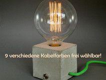 Vintage  cubo Tischleuchte Betonlampe