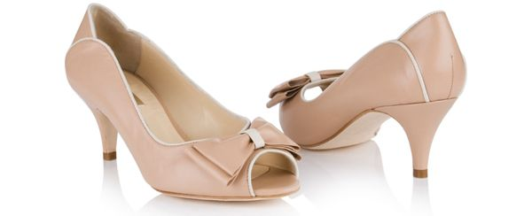 Peach wedding shoes.   From the 2014 collection of wedding shoes by Rachel Simpson http://www.rachelsimpsonshoes.co.uk/.