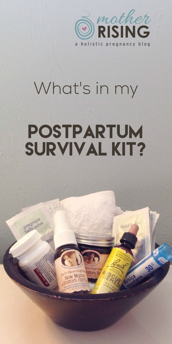 These are great ideas for a postpartum survival kit, especially for a natural postpartum recovery and mama.  Bottom balm, arnica, rhoid balm, bottom spray, belly salve - natural and healthy!  Here's to a happy postpartum. ♥
