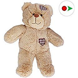 Record Your Own Plush 8 inch Brown Patches Teddy Bear - Ready 2 Love in a Few Easy Steps