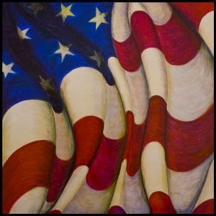 American flag painting (acrylic on canvass)  jwtarara.com