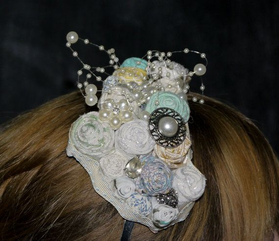 Flower Headband Facinator SVHB103 by LittleSilverSixpence