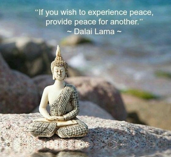 IF you wish to experience peace, provide peace for another.