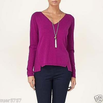 Phase Eight Ladies Purple Jumper Shona Long Sleeve