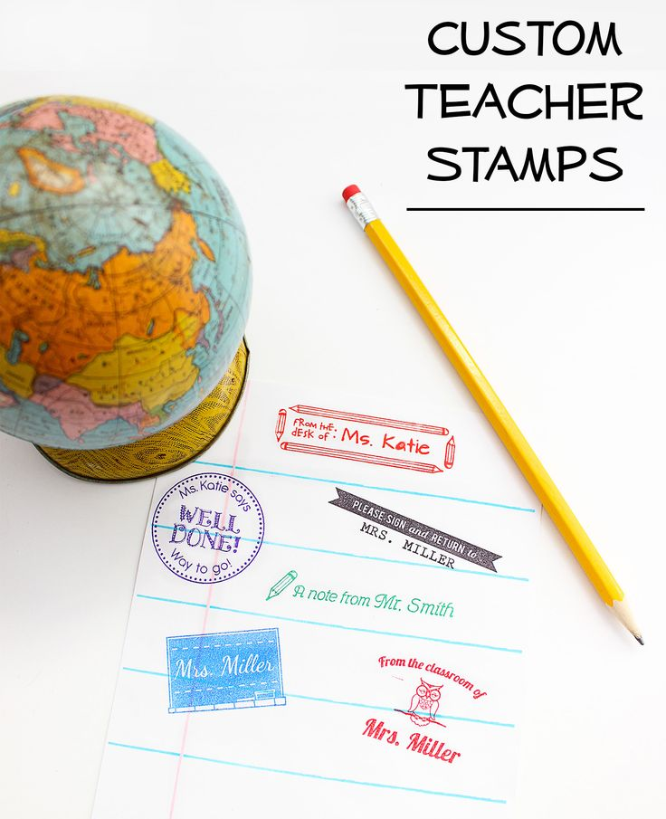 Custom Teacher Stamps + Giveaway