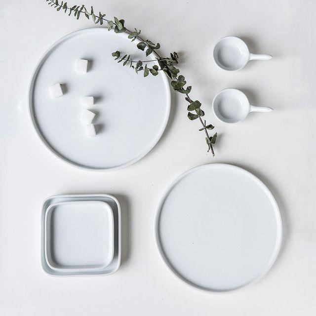 Творческий Белый Керамический Плиты Отель Домашняя Кухня Platos Де Porcelana Отдельные Продукты Наборы Посуды