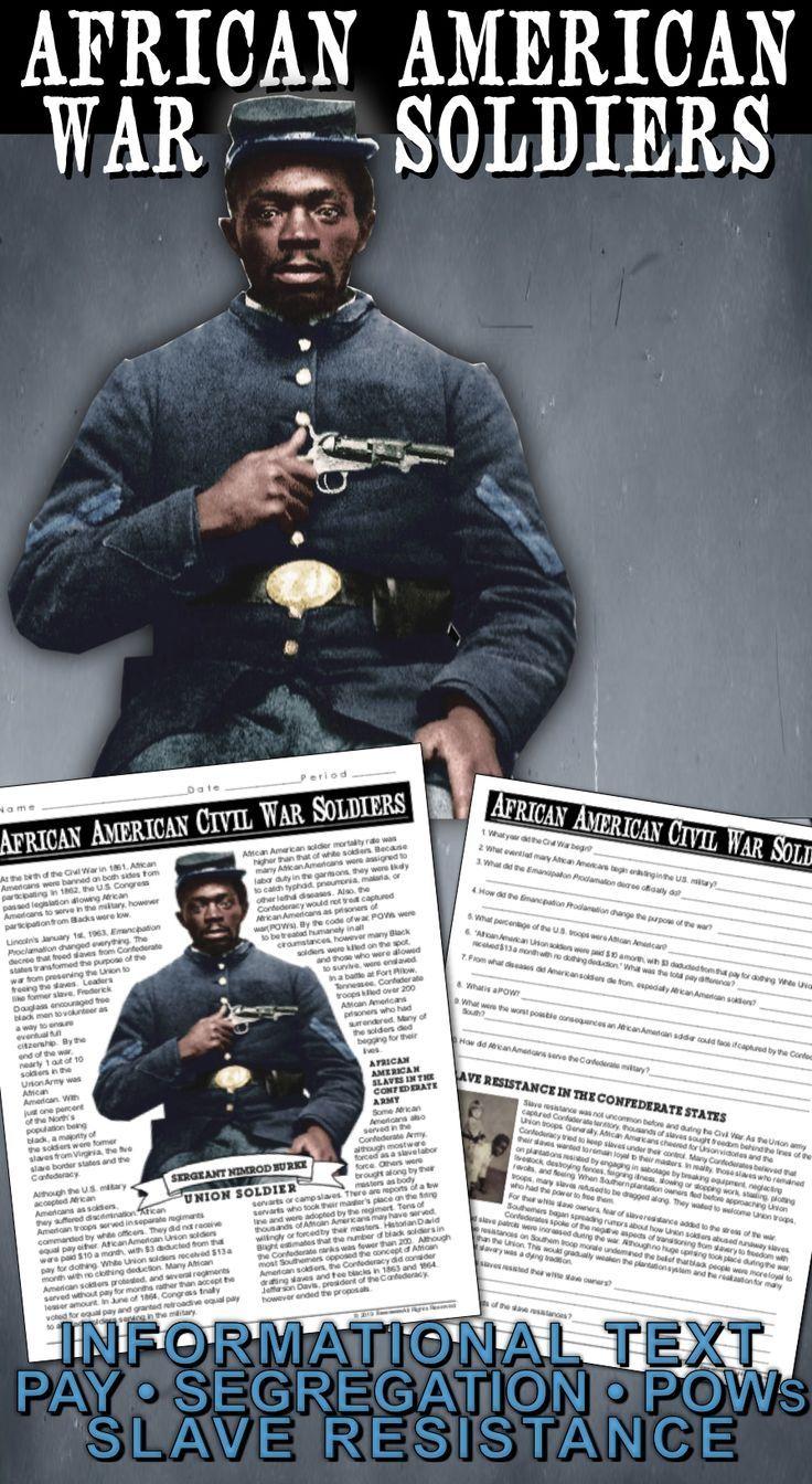 African American Civil War Soldiers Including A Distance Learning Version American Civil War Civil War Civil War Generals [ 1344 x 736 Pixel ]