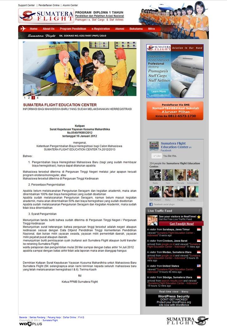 Simple design - Sumatera Flight Education Center at http://sumateraflight.com
