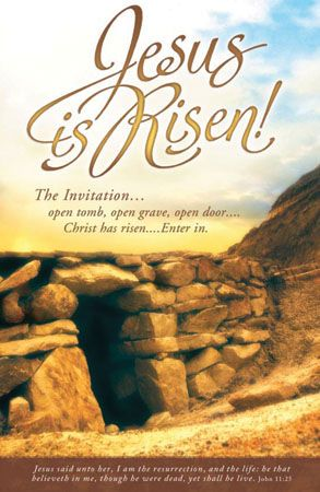 images of free church bulletins front cover he is risen ...