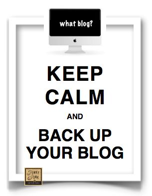 How to back up your Blogger blog.