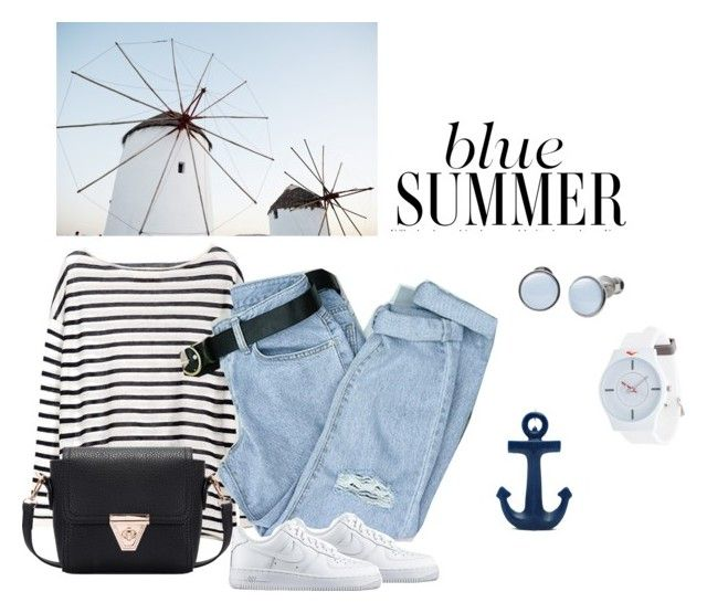 Blue summer by nastja11t on Polyvore featuring polyvore, fashion, style, NIKE, Everlast, Skagen, Sunnylife and clothing