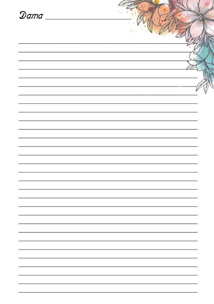 1763 best Note pages - Hojas para cartas images on Pinterest - printable lined notebook paper