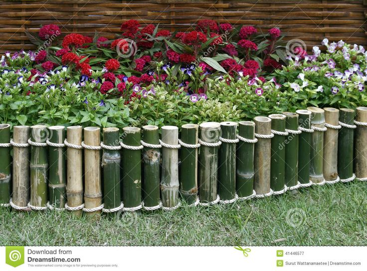 Flowers Over Bamboo Fence - Download From Over 42 Million High Quality Stock Photos, Images, Vectors. Sign up for FREE today. Image: 41446577