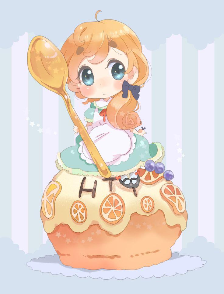#BadId #BlondeHair #BlueEyes #Chibi #Cupcake #Dress