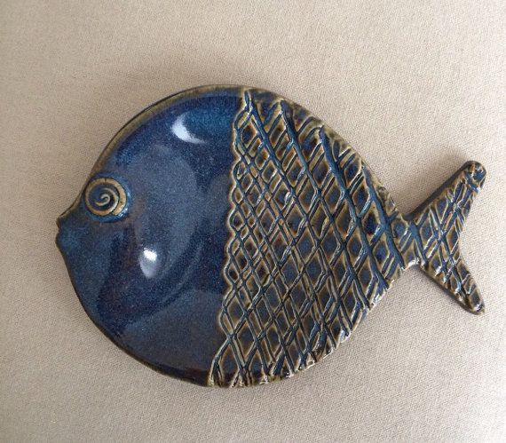 Multipurpose Pottery Fish Dish by DotDotDashPottery on Etsy